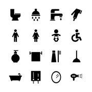 Bathroom icon Stock Illustration