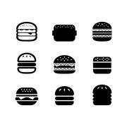 Burger icon Stock Illustration