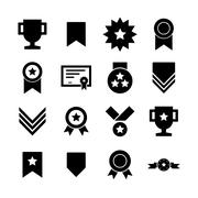 Award icon - stock illustration