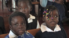 Cute African Kids in Kitwe, Zambia Stock Footage