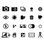 Camera icon - stock illustration