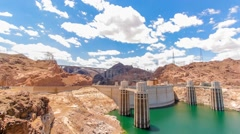 Time Lapse of the Hoover Dam - stock footage