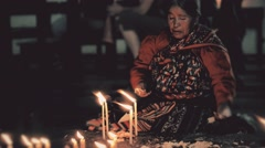 Mayan elder woman praying - stock footage