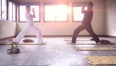 Yoga class Stock Footage
