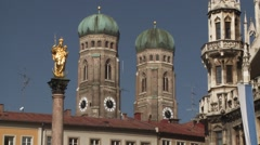 Marienplatz in Munich Stock Footage