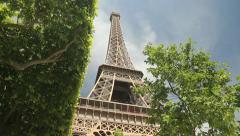 La Tour Eiffel in Paris - stock footage