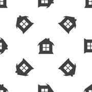 House pattern - stock illustration