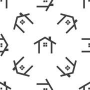 Cottage pattern Stock Illustration