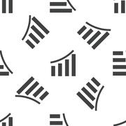 Bar graphic pattern - stock illustration