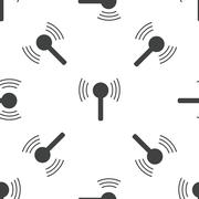 Antenna pattern Stock Illustration