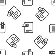 DOC file pattern - stock illustration
