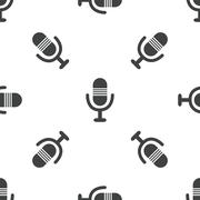Microphone pattern Stock Illustration