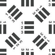 Numberes list pattern - stock illustration