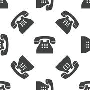Phone pattern - stock illustration