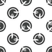 Tableware pattern - stock illustration