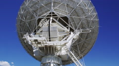 Large Radio Telescopes listening for Signals from the Universe - stock footage
