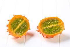 Kawani fruit - Horned melon - stock photo