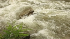 White water roaring fast - stock footage