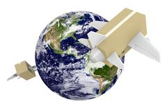 Stock Illustration of Worldwide shipping and airmail delivery