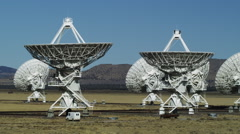 Large Radio Telescopes listening for Signals from the Universe Stock Footage