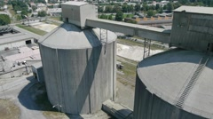 Aerial view of cement factory. Stock Footage