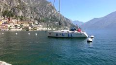 Limone sul Garda, Lake Garda, Italy Stock Footage