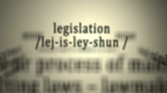 Definition: Legislation Stock Footage