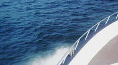 Boat moving in the Sea Stock Footage
