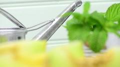 Honeydew melon - stock footage
