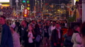 Crowd at night on Times Square, New York City Footage