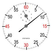 Stop Watch Face - stock illustration