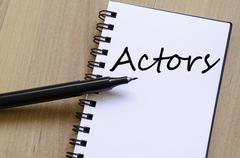 Actors concept - stock photo