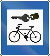 Bicycle Rental In Iceland - stock illustration