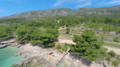 Aerial view of beautiful landscape in Bol on island of brac, Croatia. Stock Footage