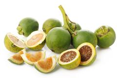 raw betel nut on white background - stock photo
