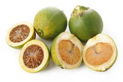 raw betel nut on white - stock photo