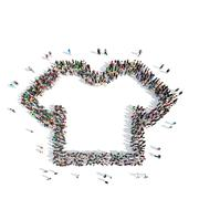 people in the shape of T-shirts - stock illustration