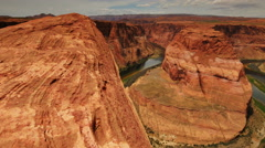 4K Horseshoe Bend Dolly 04 Colorado River Stock Footage