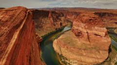 4K Horseshoe Bend Dolly 05 Colorado River Stock Footage