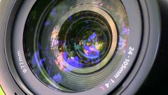 Camera photo lens. Stock Footage