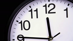 Clock on a black 00,00 TimeLapse Stock Footage