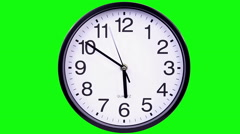 clock on a green 18,05 TimeLapse - stock footage