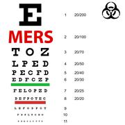 On  table  sight check Mers Corona Virus sign.  Vector Illustration. - stock illustration