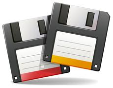Floppy disc - stock illustration