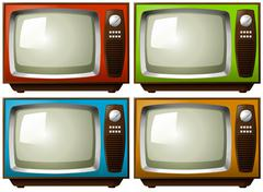 Televisions Stock Illustration