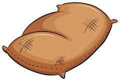 Brown sack - stock illustration