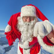 Hey, kids. I'm Santa Claus! Stock Photos