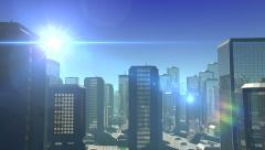 Futuristic City Flight - stock footage