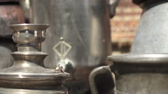 Azerbaijan Baku Old City Tea Maker  - stock footage