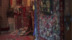 Azerbaijan Traditional Carpet Stock Footage